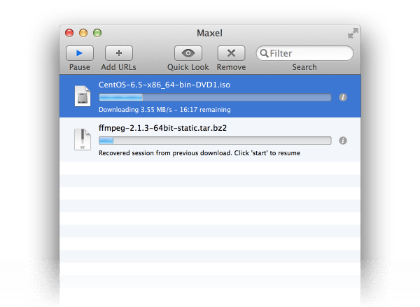maxel - download accelerator app for os x